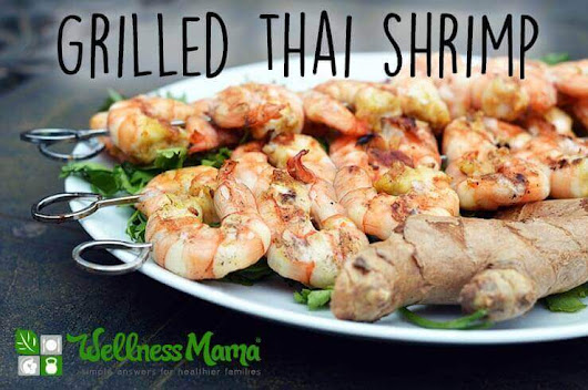 Grilled Thai Shrimp Recipe With Chili, Garlic and Citrus