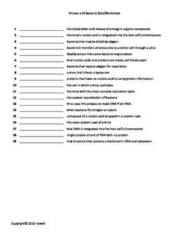 Bacteria And Virus Worksheet Answers - Worksheet List