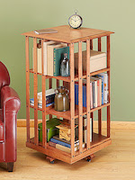 Revolving Danner-inspired Bookcase Woodworking Plan - fee plans from WoodworkersWorkshop® Online Store - rotating bookcases, bookshelf,bookshelves,spinning,turning,full sized patterns,woodworking plans,woodworkers projects,blueprints,drawings,blueprints,how-to-build