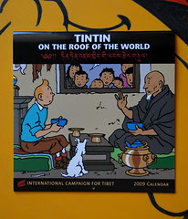 Tintin in Tibet calendar ICT su BAB - photo Goria