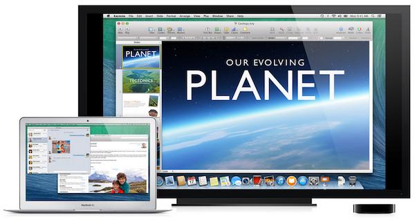 os x mavericks apple tv OS X Mavericks lets you use your HDTV as a second display using Apple TV and AirPlay