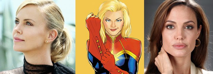 Charlize Theron, Captain Marvel y Angelina Jolie