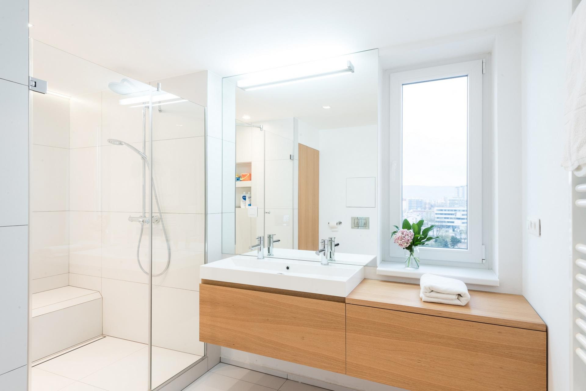 white wood bathroom