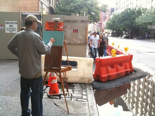 Painting en plein air, NYC