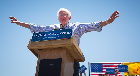 Bernie Sanders in Vado, New Mexico
