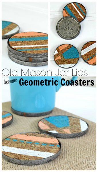Refresh Living Old-Mason-Jar-Lids-Become-DIY-Geometric-Coasters Evija