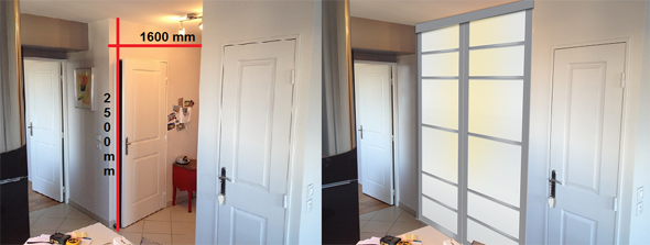 panneau coulissant rigide. Black Bedroom Furniture Sets. Home Design Ideas