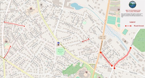 The following areas are currently closed due to Columbia Gas roadwork: Davis Street from Elmcrest Road...