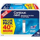Contour Next Blood Glucose Test Strips, Value Pack - 70 strips