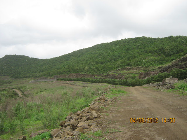 Cut, Demolished & Destroyed Hill of XRBIA Hinjewadi Pune - Nere Dattawadi, on Marunji Road, approx 7 kms from KPIT Cummins at Hinjewadi IT Park - 87