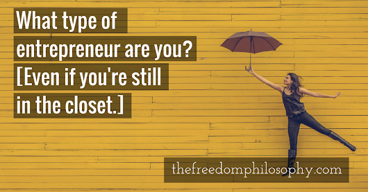 Which Type of Entrepreneur are You? // The Freedom Philosophy