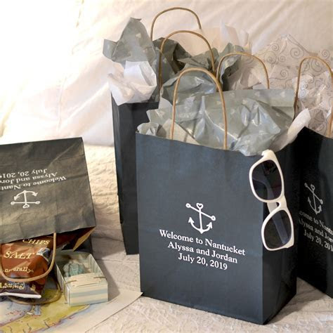8 x 10 Kraft Wedding Welcome Gift Bags Personalized
