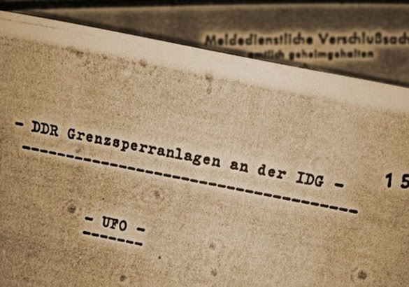 "Front page of the ""UFO""-files of the German foreign secret intelligence agency ""Bundesnachrichtendienst"" (BND). | Copyright: Bundesarchiv.de (Credit: grenzwissenschaft-aktuell.de)"