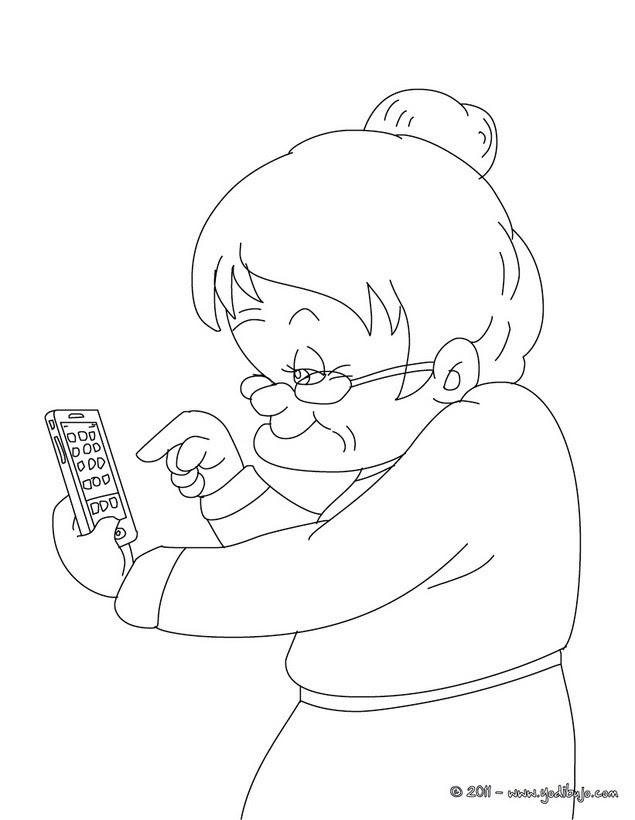 Dibujos Para Colorear Abuela Y Sus Nietos Eshellokidscom