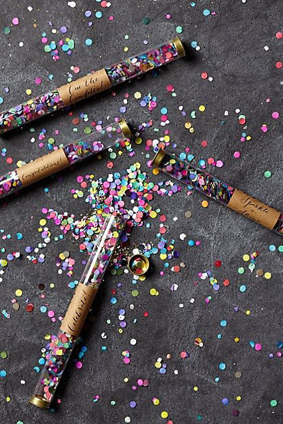 LOVE these Confetti Wands by Anthropologie! Would work great for a glittery birthday celebration!