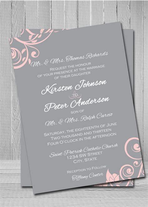 Customized Wedding Invitations   Wedding   Pink wedding