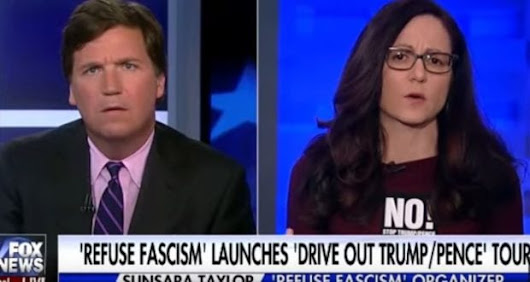 "WATCH: ""Refuse Fascism"" Organizer Go Psycho"