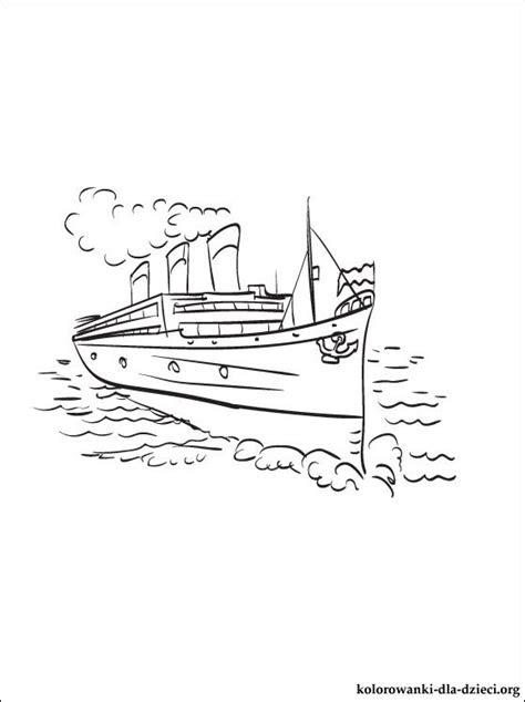 statek wodny kolorowanka kolorowanki dla dzieci