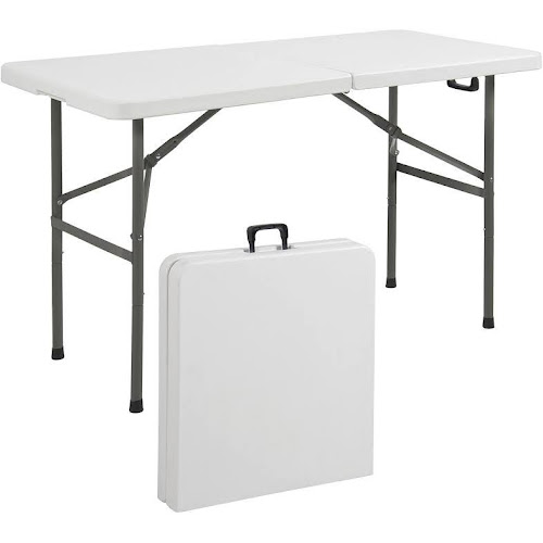Folding Table 4' Portable Plastic Indoor Outdoor Picnic Party Dining