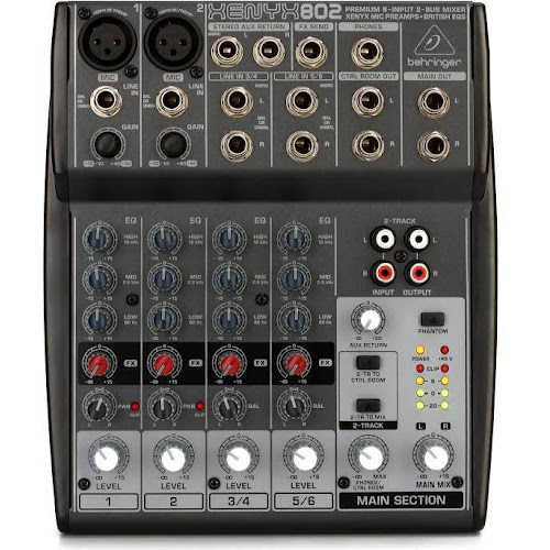 Behringer Xenyx 802 8-Channel Analog Mixer