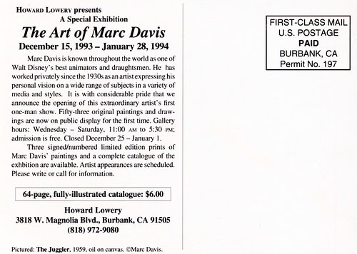 Marc Davis Exhibition -1993/94 (Back)