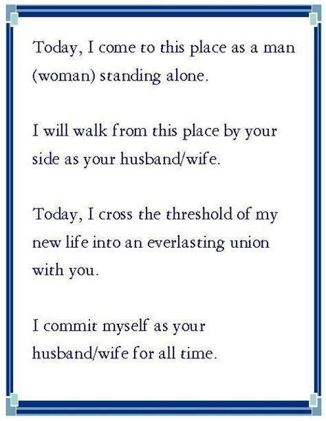 Sample wedding vows for Wedding Vows Wednesday 4/16/14