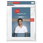 Hanes Premium Men's 6pk V-Neck T-Shirt - White