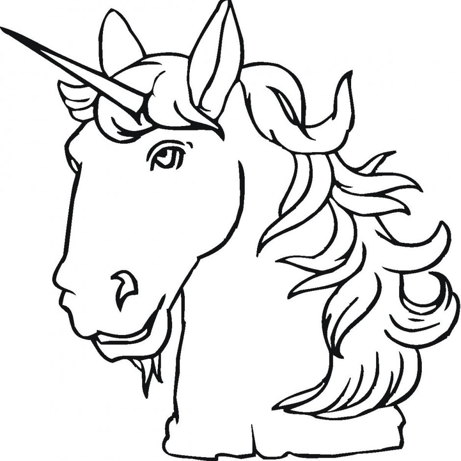 Rainbow Unicorn Coloring Page | Clipart Panda - Free ...