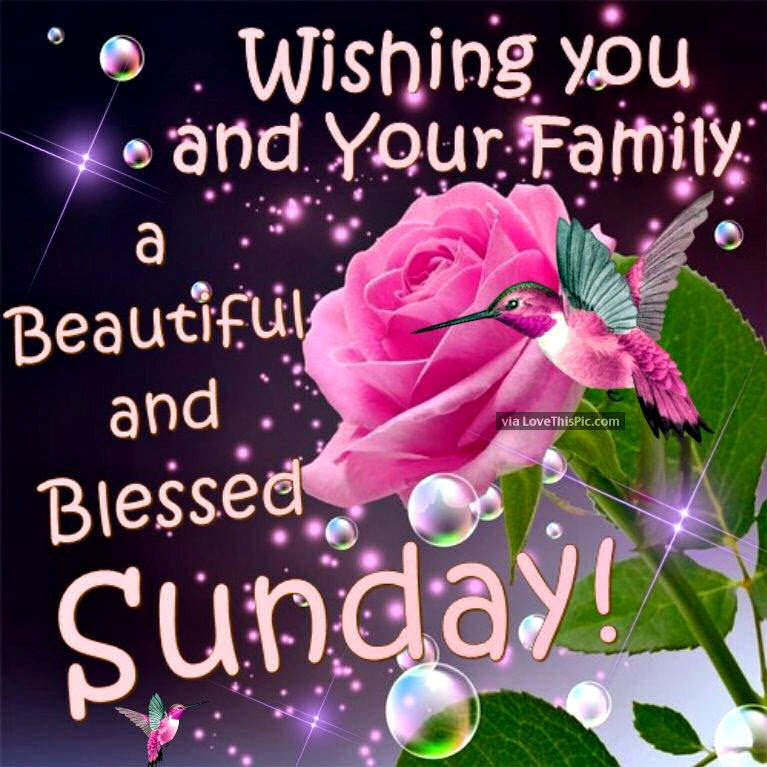 Wishing You And Your Family A Beautiful Sunday Pictures Photos And