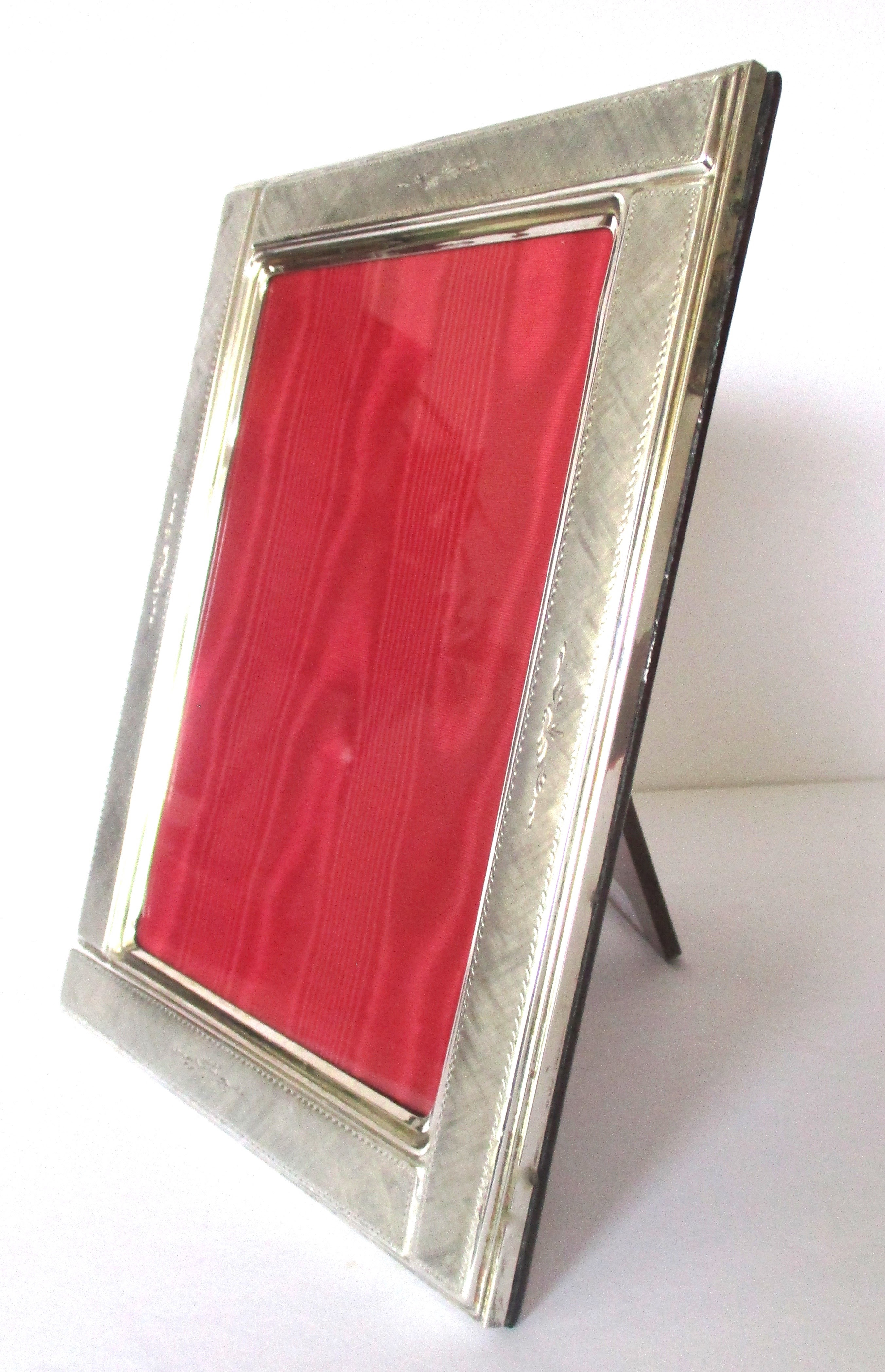 Vintage Sterling Silver Picture Frame 5 X 7 Photo For Sale