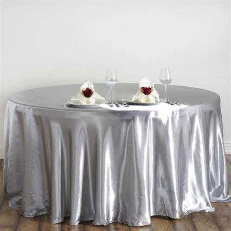 "10 pcs 120"" Round SATIN Tablecloths for Wedding Reception"