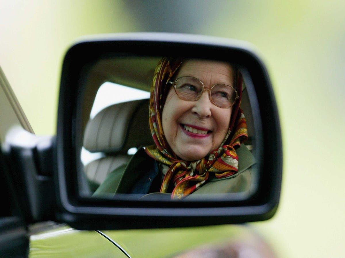 The Queen can drive without a license.