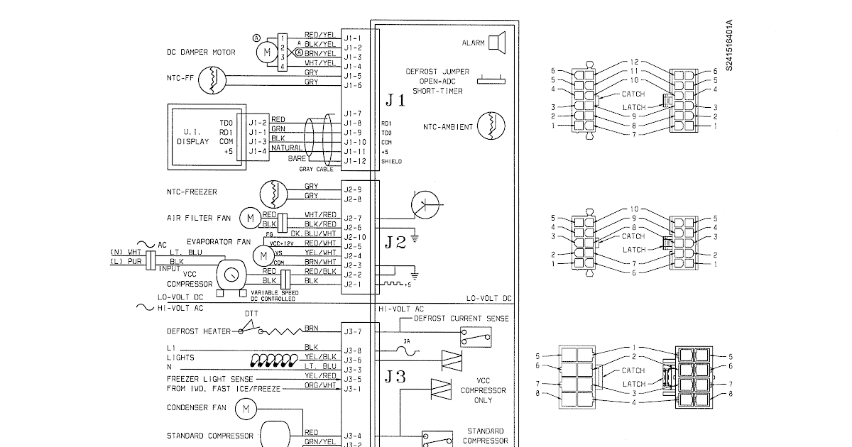 Wiring Diagram For Kenmore Elite Refrigerator