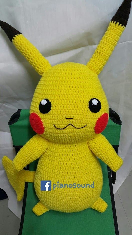 Crochet & Anime Lover — Pika pikachu uuu~  Very big, perfect size for...