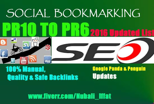 I will submit PR10 to PR6 authority 30 Social Bookmarking Sites