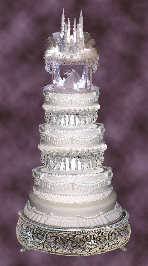 Lighted 8in. and 10in. Crystal Look Wedding Cake Tier