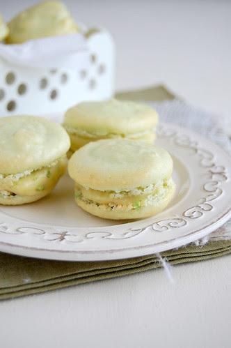 Lime macarons / Macarons de limão