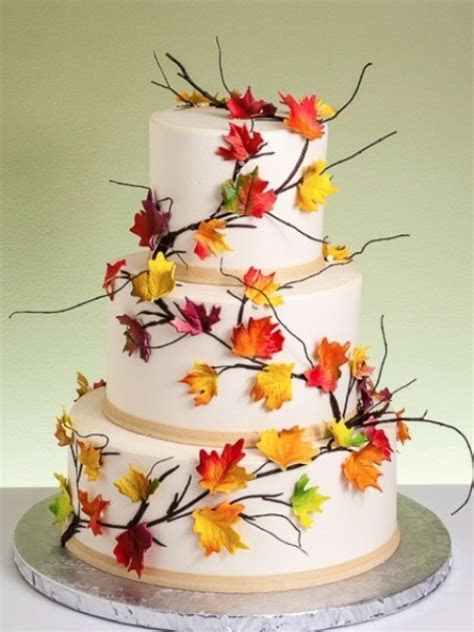 Picture Of Awesome Fall Wedding Cakes