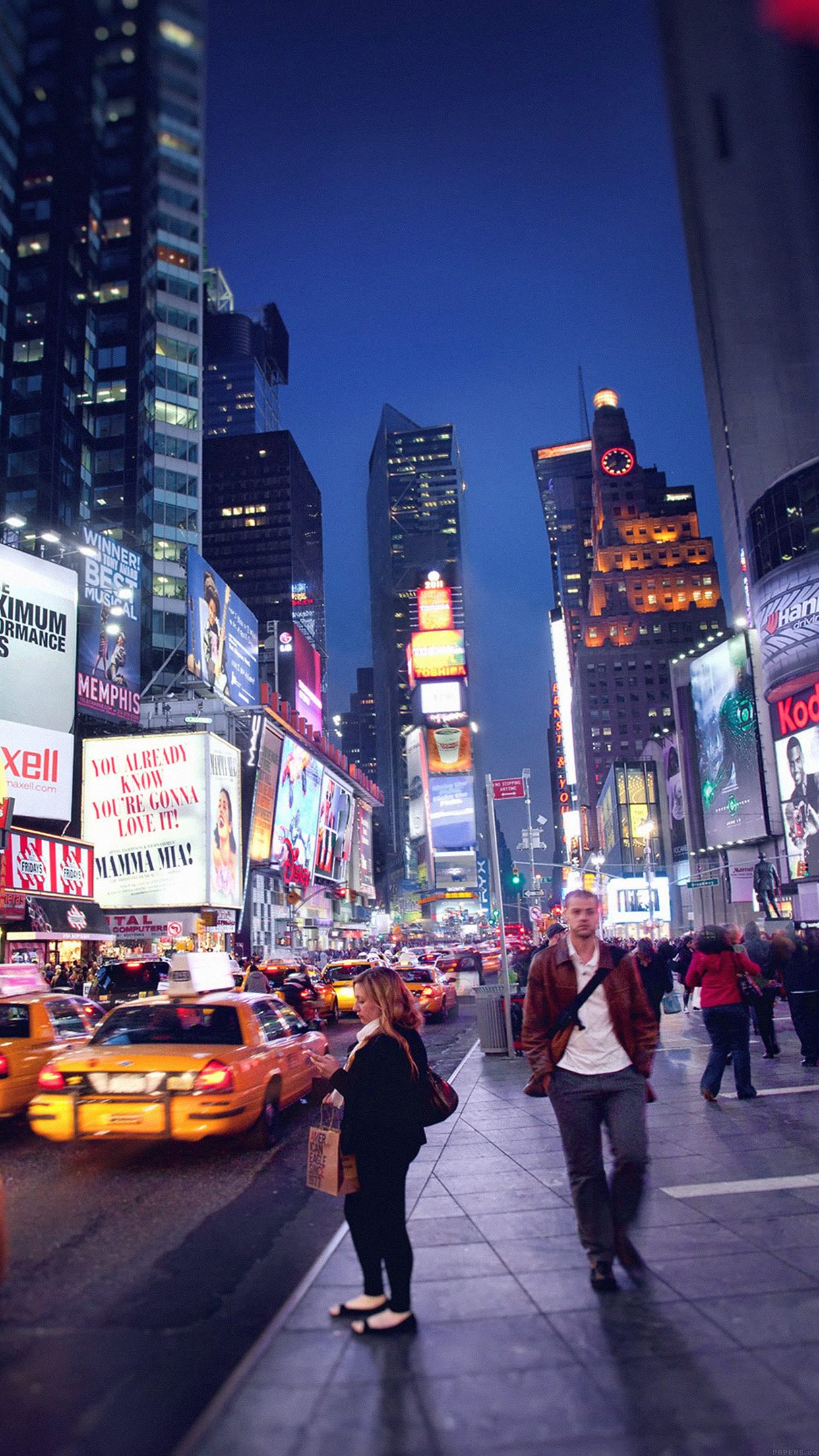 New York Time Square Wallpaper For Iphone 11 Pro Max X 8 7 6