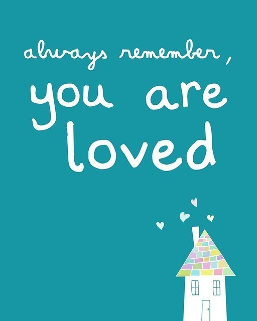 Always remember you are loved print by pennywishes