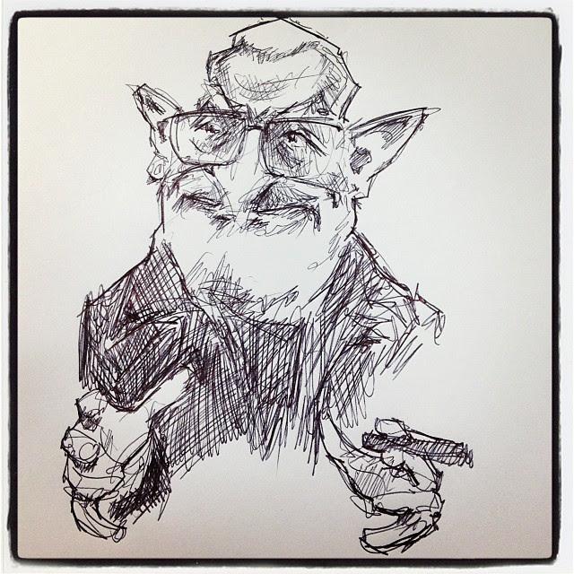 #oteiza #bic #caricature