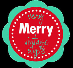 Very Merry Vintage Style Blog Button