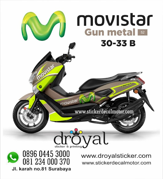 STICKER DECAL Nmax Gun Metal 30 33
