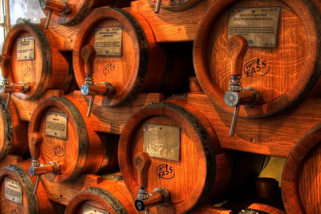 Wooden casks (alcohol inside)