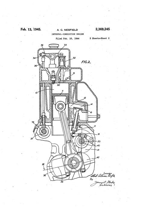 Patent US2369245 - Internal-combustion engine - Google Patents