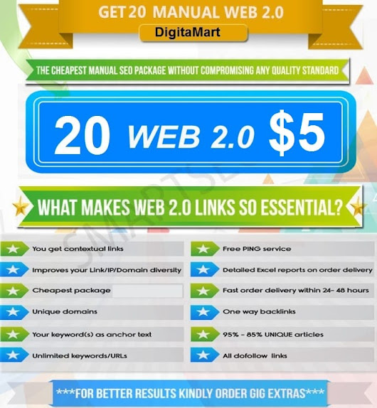 tariqulislam393 : I will rank your website top on google with 20 web 2 0 backlink for $5 on www.fiverr.com