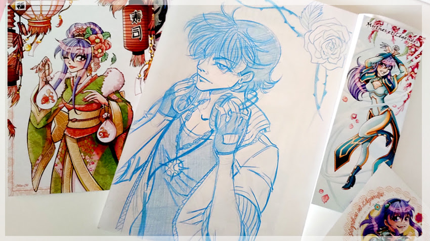 Miss-M illustration dédicace Mythes et Légendes Shojo manga