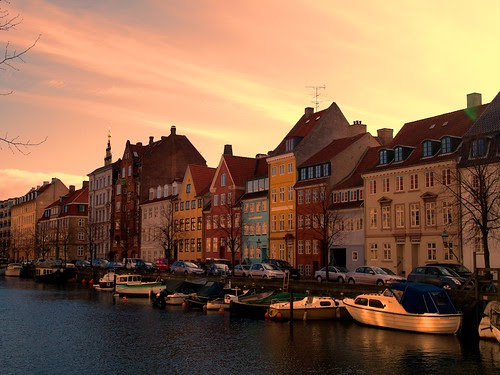 Sunset at Christianshavn, Copenhagen