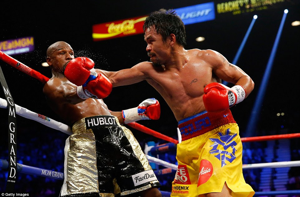 Pacquiao did have his moments and had Mayweather on the ropes but the American never looked in any real trouble