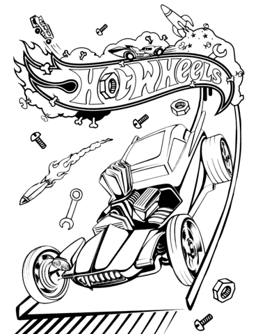 Hot Wheels coloring page | Free Printable Coloring Pages